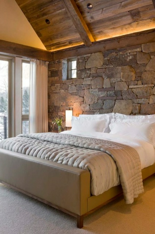 Landhausstil zu Hause populär einrichtungsideen schlafzimmer naturstein