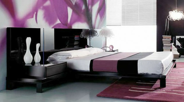 luxus lila schlafzimmer einrichtungsideen f r eitle damen. Black Bedroom Furniture Sets. Home Design Ideas