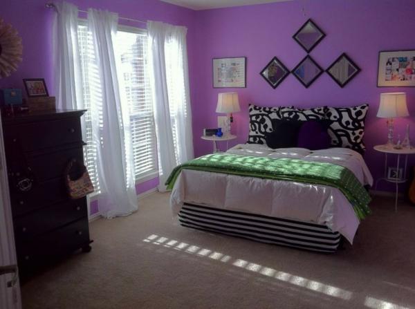 Luxus Lila Schlafzimmer   Einrichtungsideen Für Eitle Damen, Wohnzimmer  Design