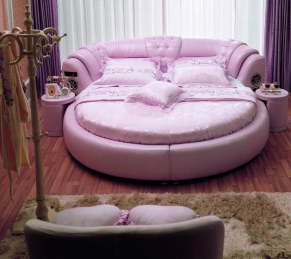 Designer bett rund  Luxus lila Schlafzimmer - Einrichtungsideen für eitle Damen