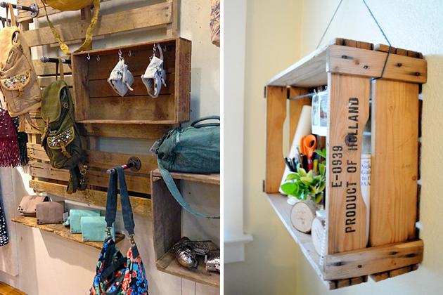 Möbel Europaletten basteln DIY wanddekoration