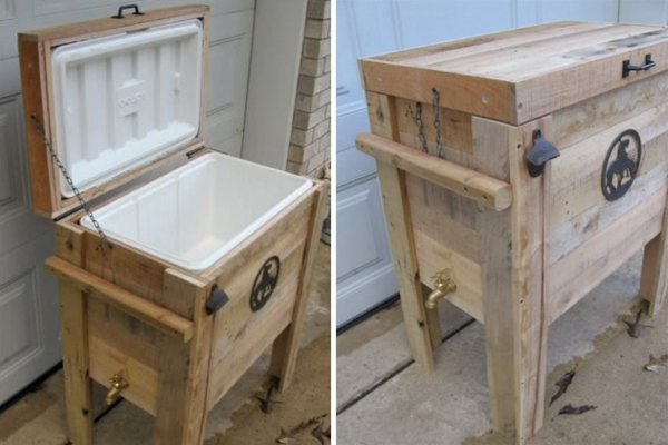 Möbel aus Europaletten basteln kühlschrank