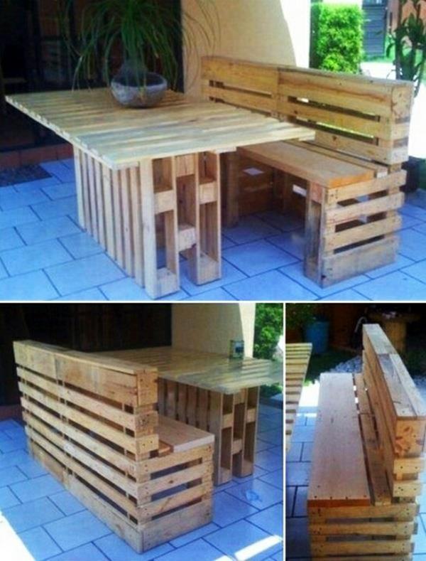 Möbel aus Europaletten gartenmöbel gartentisch gartensitzbank