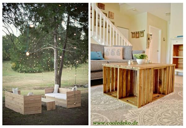 Möbel aus Europaletten ideen treppe sitzmöglichkeit