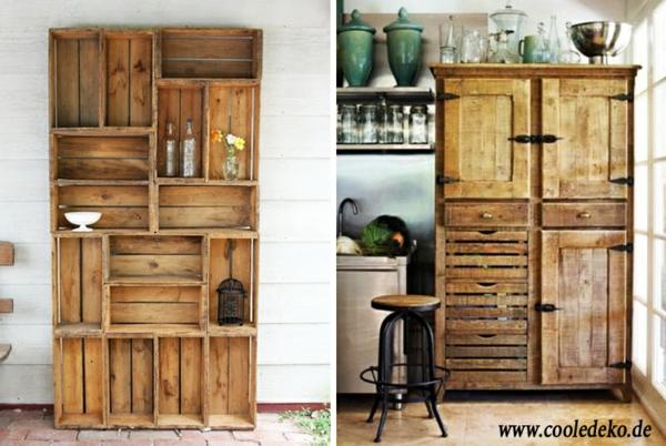 Möbel aus Europaletten kleiderschrank küchenschrank