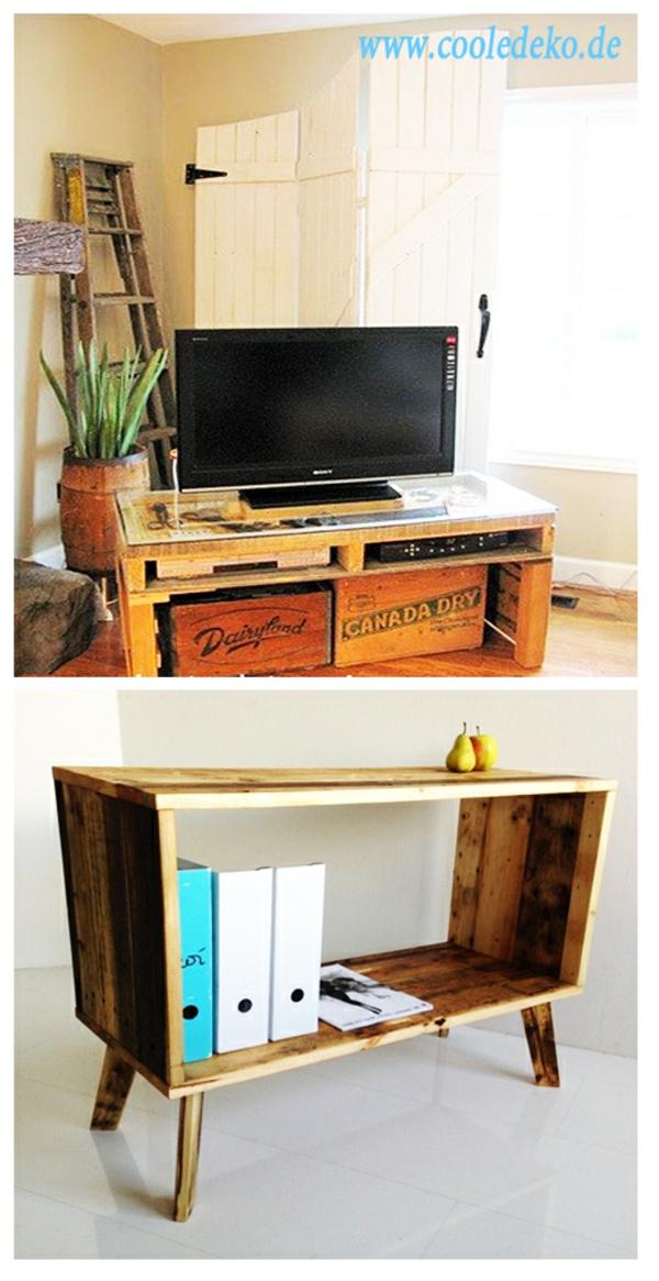 Möbel aus Europaletten tisch fernsehständer