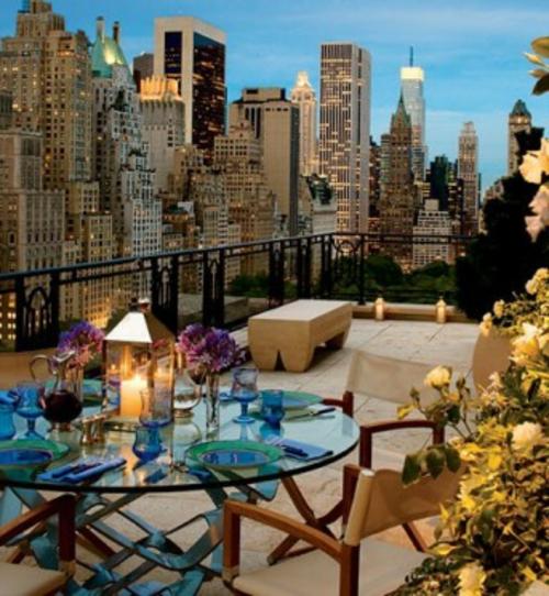 tolle Terrasse gestalten stadt umgebung