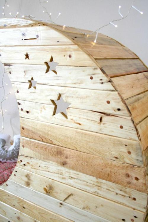 Mond Babywiege aus Europaletten holz platten frankreich