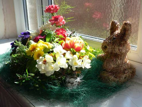 Osterdeko Frühlingsblumen blumenstrauß frisch