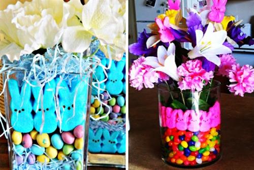 Osterdeko und Dekoartikel osterhasen blüten bunt farben
