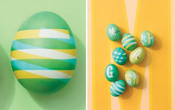 Ostern eier bemalen bunt selber basteln streifen
