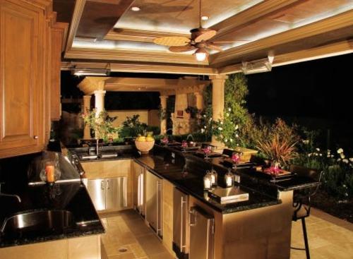 garten Küche mit Grill beleuchtung zimmerdecke