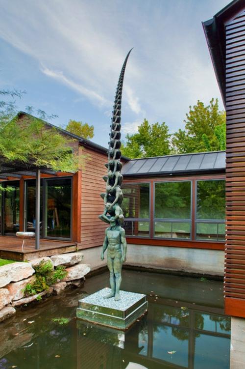 Prächtige Gartengestaltung gras skulpturen gartenstatue