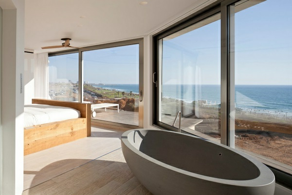 romantisches design mit einer badewanne im schlafzimmer badezimmer - Schlafzimmer Mit Badezimmer