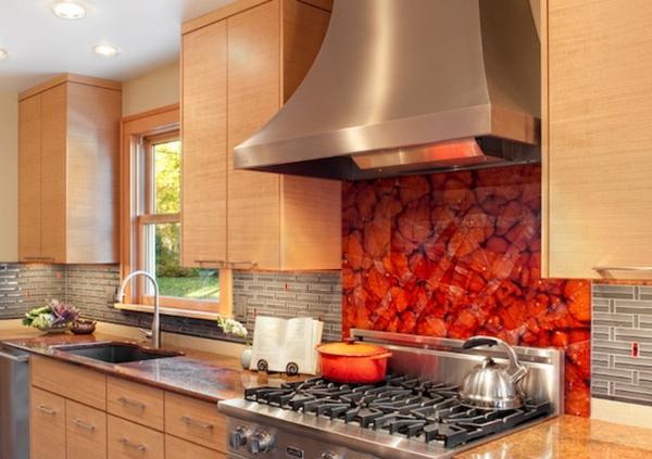 tolle Küchenrückwand eingebaut akzente