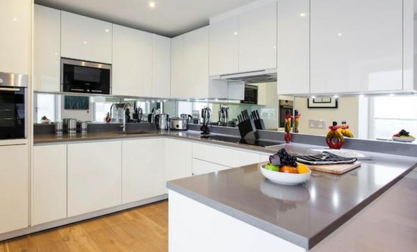 Schöne Küchenrückwand minimalistisch einrichtung