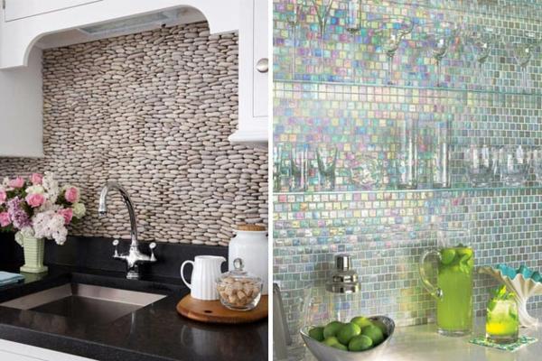 Schöne Küchenrückwand mosaik neon farben