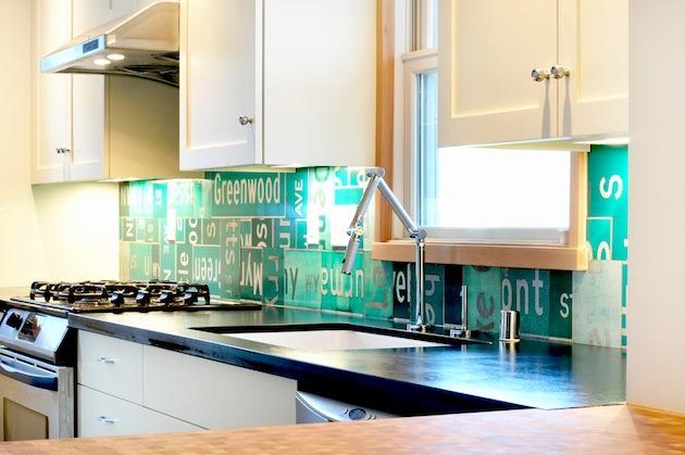 Schöne Küchenrückwand spüle küchenschrank arbeitsplatte