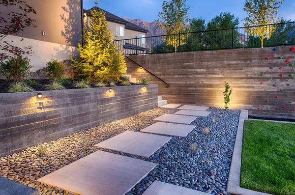 coole Landschaft im Garten fußweg platten originell
