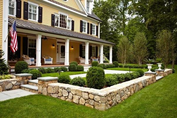sch ne landschaft im garten kieselsteine und flusssteine einbauen. Black Bedroom Furniture Sets. Home Design Ideas