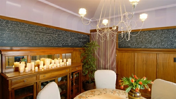 Schultafel Im Esszimmer Interessant Kerzen Vielfalt