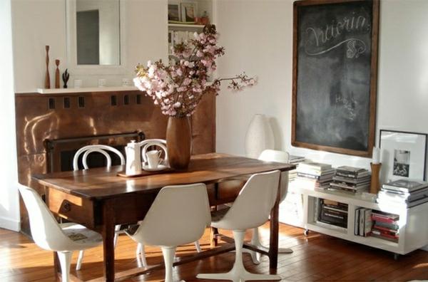 Schultafel im Esszimmer interessant modern möbel essstühle