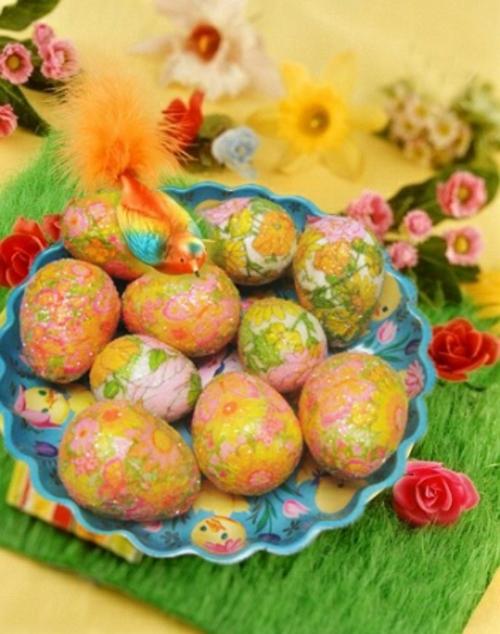 Tischdeko  Ostern eierschale verziert bunt