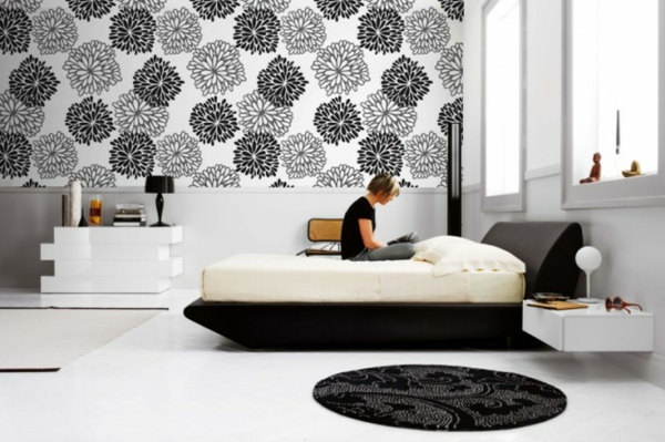 wandgestaltung mit fototapeten. Black Bedroom Furniture Sets. Home Design Ideas