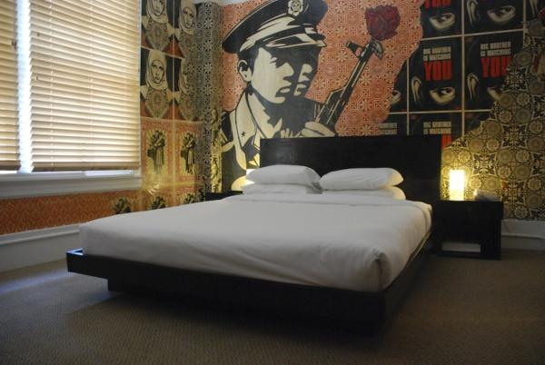 Wandgestaltung Fototapeten schlafzimmer historisch motiv