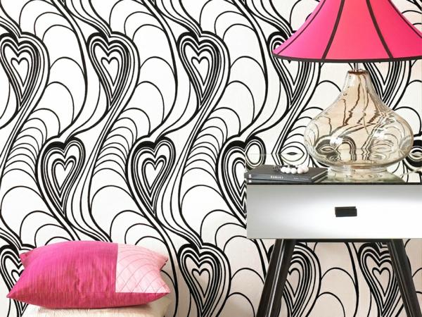 Wandgestaltung  Fototapeten schwarz weiß abstrakt
