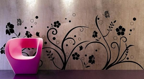 Wandgestaltung Fototapeten sessel wandtattoo sticker
