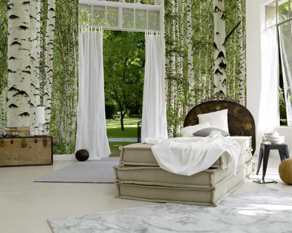 Wandgestaltung  Fototapeten wunderschön märchenhaft schlafzimmer