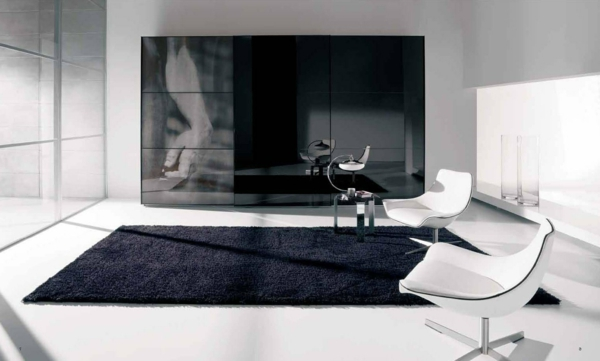 hammer dunkel dramatisch design weich teppich weiß sessel
