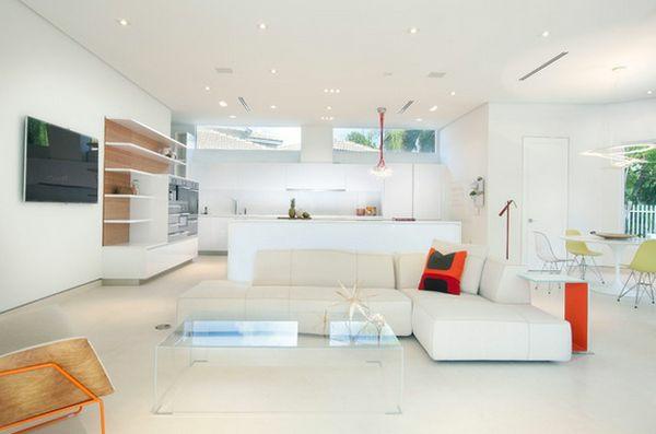 acrylglas möbel couchtisch ecksofa weiß wohnzimmer