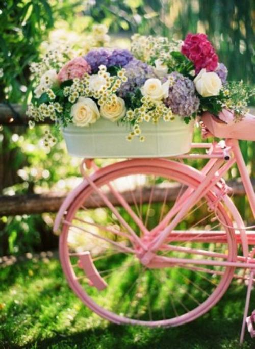 alte gegenstände rosa fahrrad