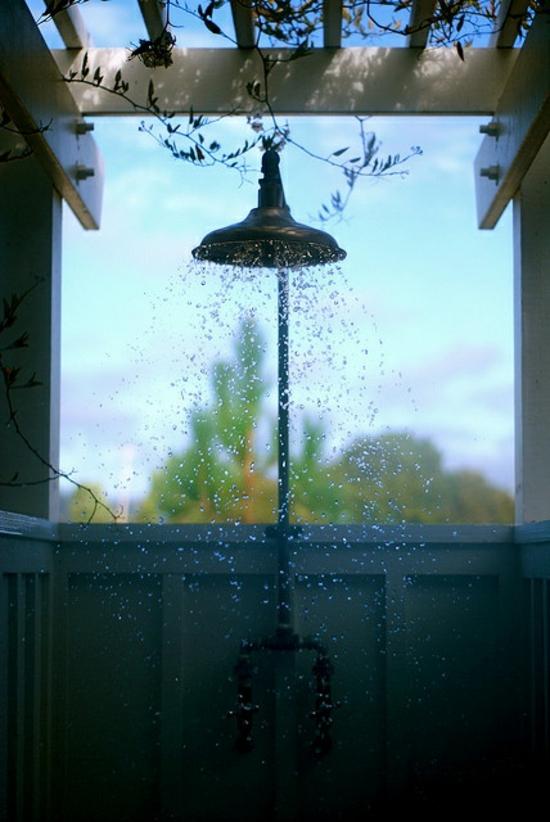 außendusche selber bauen bad im freien dusche