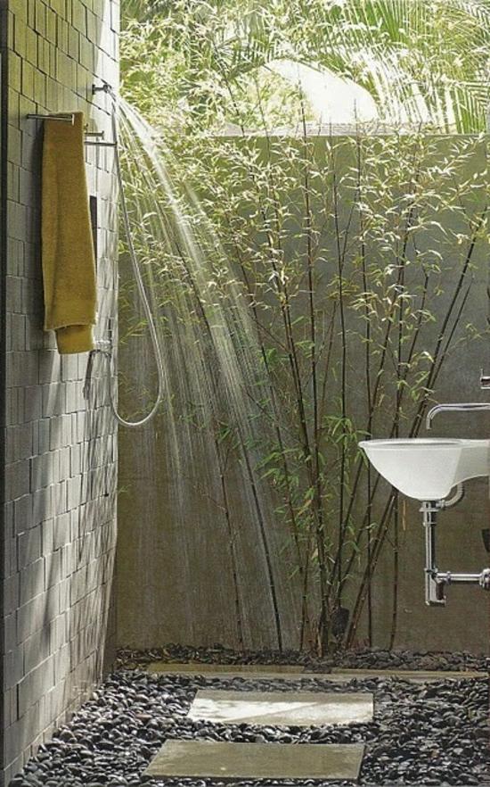 außendusche selber bauen bad im freien