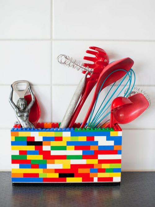 kunststoffblöcke bunt küchen originelle Einrichungsideen