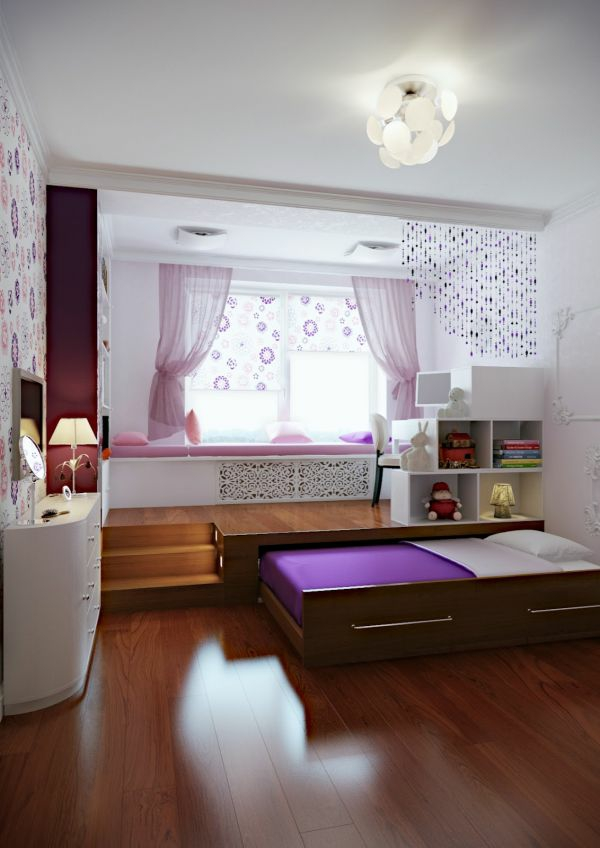 ausziehbett lila farbe