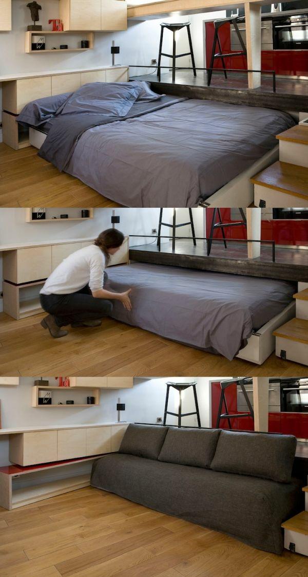 ausziehbett platz für andere möbel