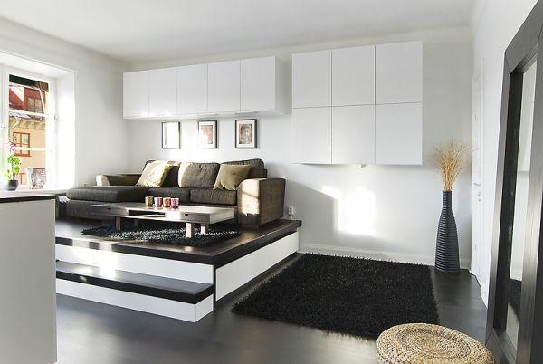 ausziehbett schwarz und weiß