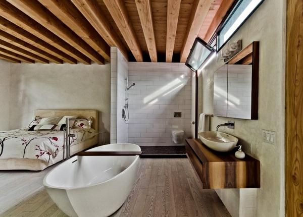 Badewanne Im Schlafzimmer Installieren: Freistehende Badewanne Im