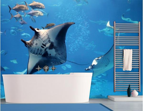 badezimmer leiter schiene badetücher meeresboden unterwasser