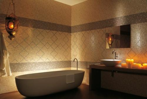 Badezimmer Romantische Beleuchtung Led Leuchte Hinter Der Badewanne U003eu003e Led  Band Hinter Bett