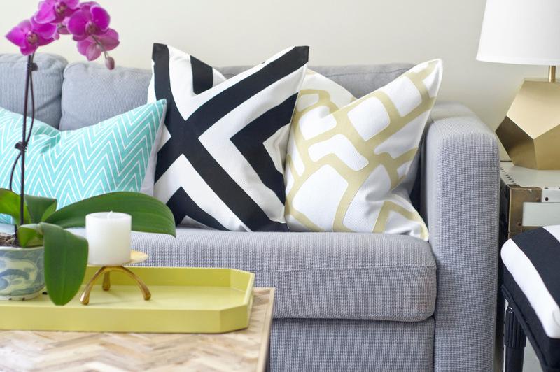 bastelideen kissenh llen mit muster selber machen. Black Bedroom Furniture Sets. Home Design Ideas