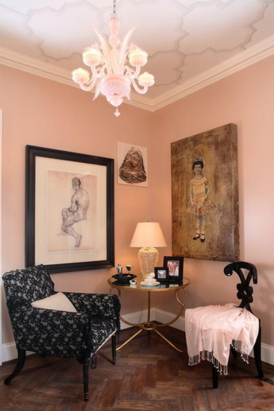 farbgestaltung und bunte wohnideen - rosa im einsatz - Rosa Wandfarbe Wohnzimmer