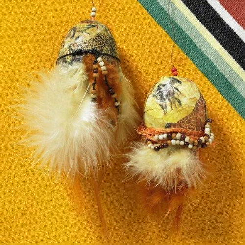 coole Bastelideen zu Ostern 2014 federn schmuck