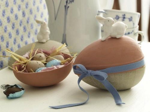 coole Bastelideen zu Ostern 2014 ostereier hase keramisch