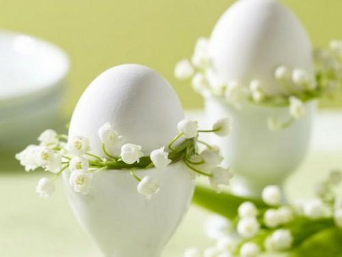 coole Bastelideen zu Ostern 2014 ostereier maiglöckchen
