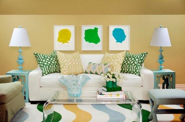 couchtisch aus acrylglas wohnzimmer farbig durchsichtig